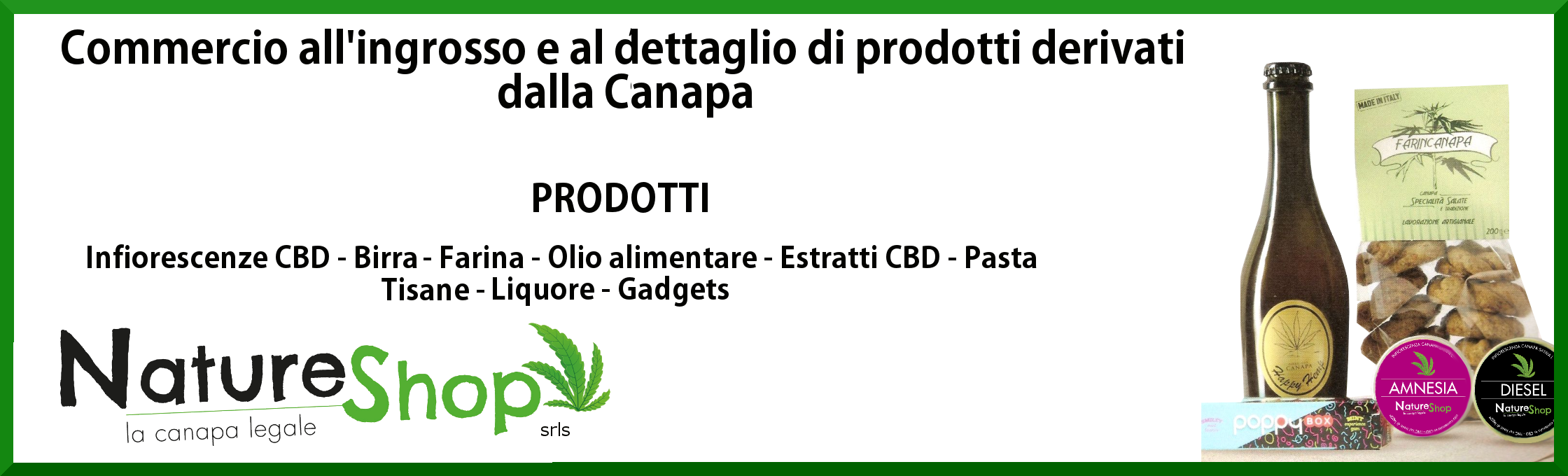 natureshopsrls prodotti derivati dalla canapa sativa